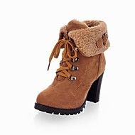 Women's Shoes Round Toe Chunky Heel Ankle Boots w... – USD $ 39.99