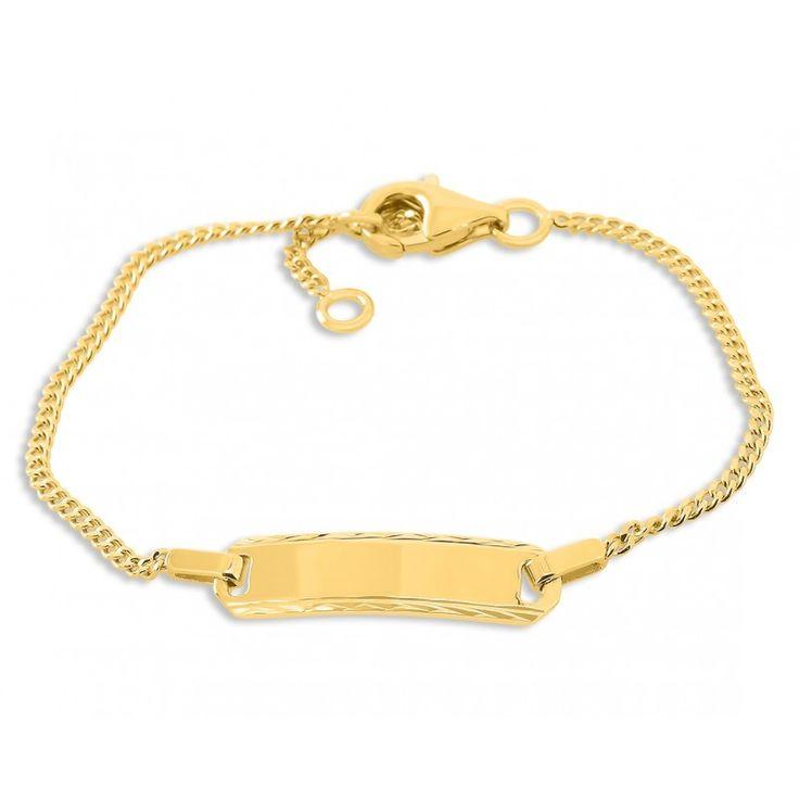 Ein schönes Taufarmband für Babys und Kinder aus 925 Sterling Silber. Das Armband wird mit Ihrem Wunschtext bzw. Wunschnamen graviert. Hierfür stehen Ihnen max. 15 Zeichen inkl. Leerzeichen zur Verfügung. Dieses Armband ist eine wundervolle Geschenkidee zur Taufe für das Baby oder Kleinkind. Das komplette Schmuckstück wird in Juwelierqualität hochwertig vergoldet.