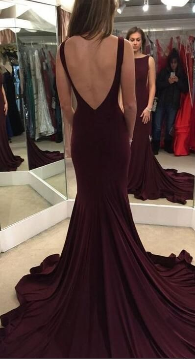 burgundy prom dress, mermaid prom dress, long prom dress, 2017 prom dress, women's fashion 2017 dress