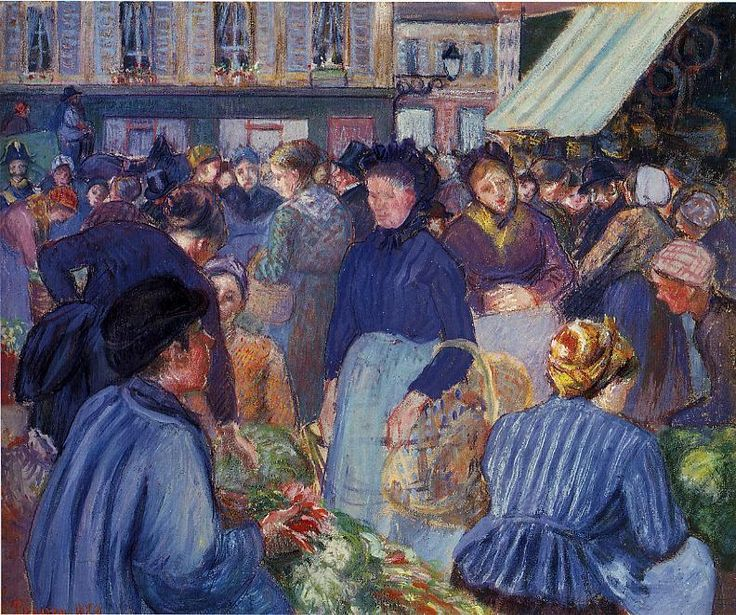 Camille Pissarro - The Market at Gisors, 1899