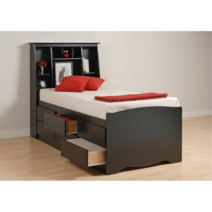 twin xl bed frame 6 drawers 36993
