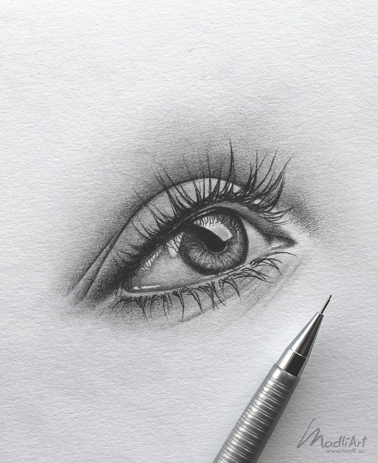 Открытки, глаза рисунки карандашом прикольные