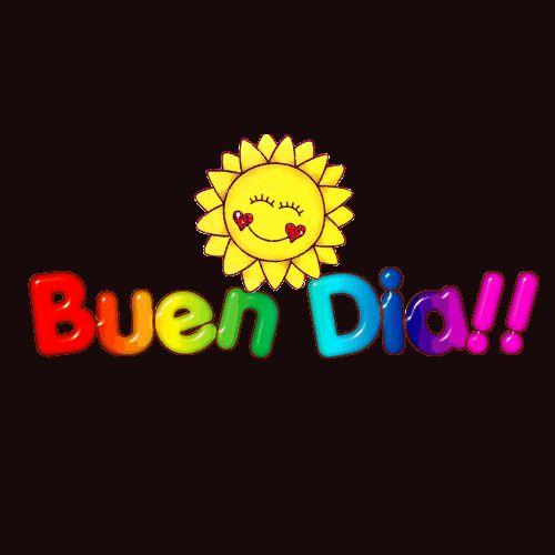 Imagen de un sol sonriendo saltando para desearte un Buen Dia!!