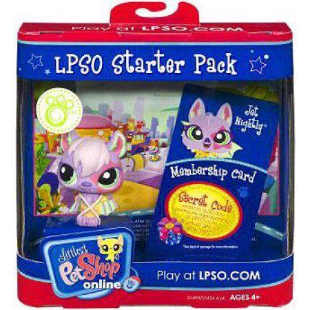 Littlest Pet Shop Online Lpso Starter Pack Jet Nightly Figure [Bat], Multicolor