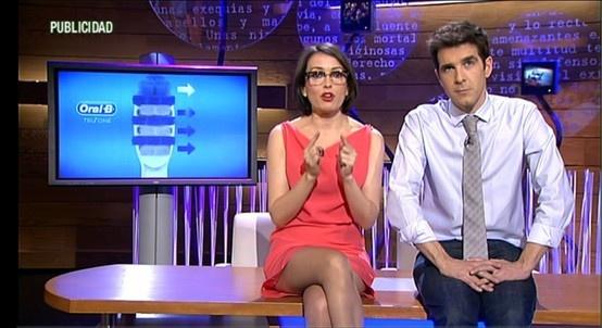 Thais Villas vestida de Ivancampaña en el programa El Intermedio de La Sexta.