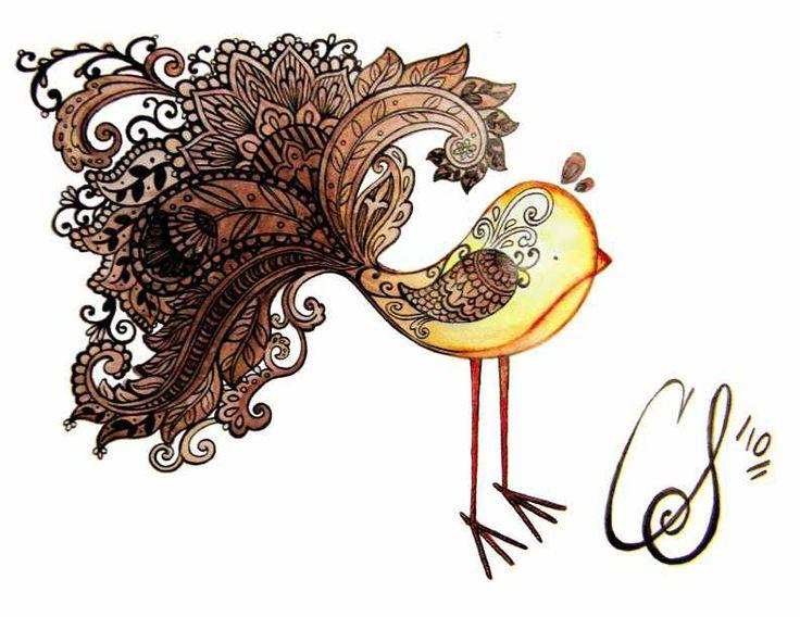Paisley Bird Tattoo                                                                                                                                                      More