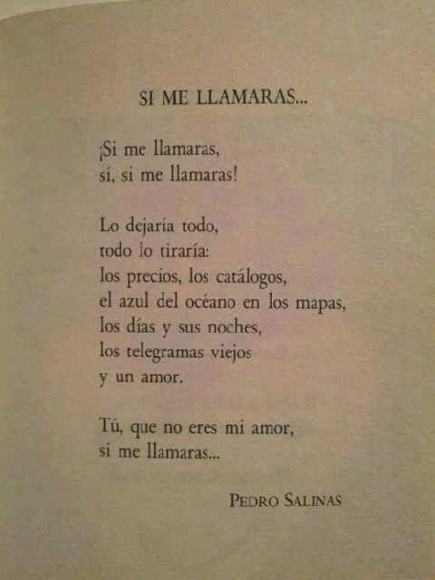 Poema de Pedro Salinas, autor de la Generación del 27.