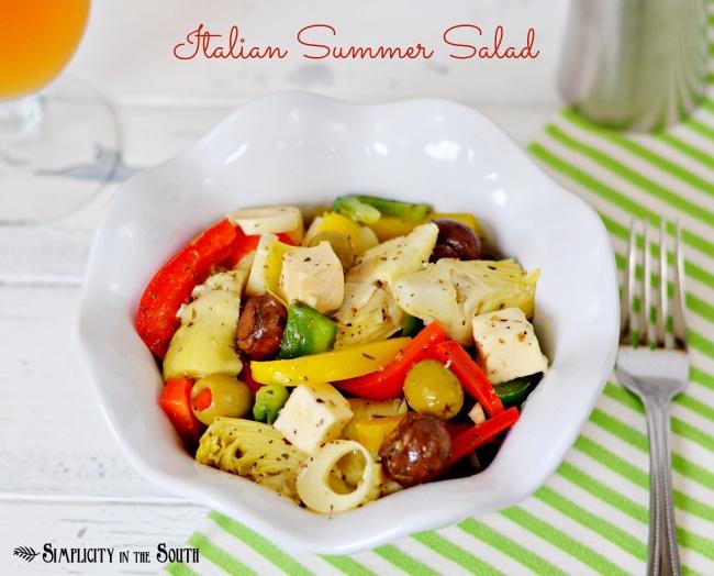 Italian Summer Salad @SimplicityIn