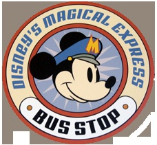 *MAGICAL ~ Express Bus Stop Sign  (Located outside of your Disney Resort!)