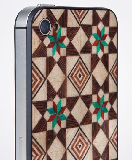 Taracea wood backs for IPhone - SABIKA FOREST