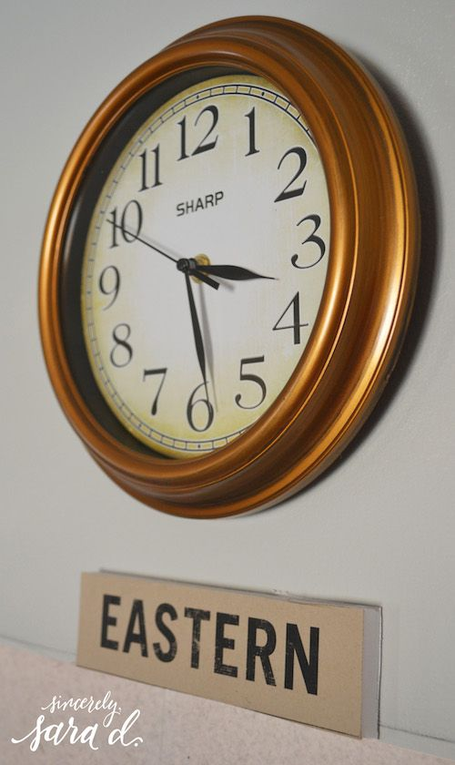 Eastern Time Zone Clock