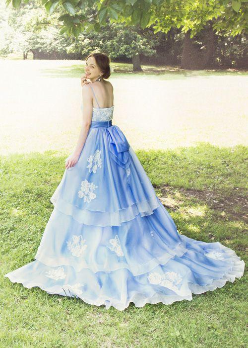 #BTNNV171 #NOVARESE #blue #white #dress #weddingdress #wedding #tuxedo #ノバレーゼ #青 #ブルー #ガーデン #カラードレス  #ウエディング