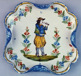 Traditional quimper faience pottery from France, handpainted and beautiful!