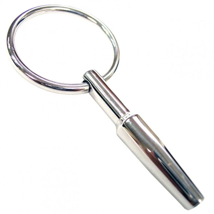 Small Urethral Probe With Ring. Hollowed Out For Passing Of Fluids. Suitable For Beginners Of Urethral Play