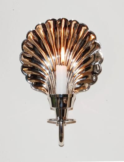 Brass Shell Wall Lights : Bronze/brass shell wall light Lighting Pinterest Shells, Sconces and Lights