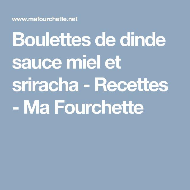 Boulettes de dinde sauce miel et sriracha - Recettes - Ma Fourchette