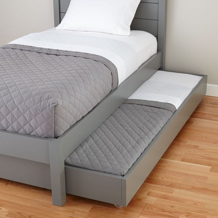 Uptown Trundle Bed (Grey)
