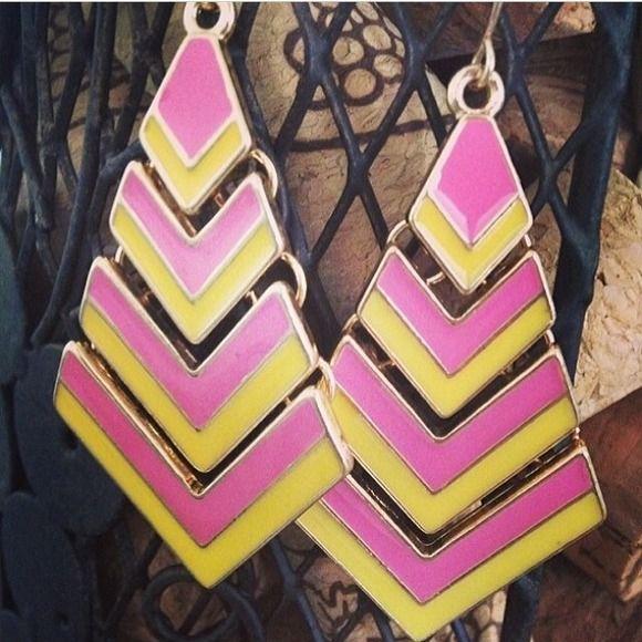"Selling this ""Yellow And Pink Lemonade Arrow Earrings"" in my Poshmark closet! My username is: shenzijewelry. #shopmycloset #poshmark #fashion #shopping #style #forsale #Jewelry"