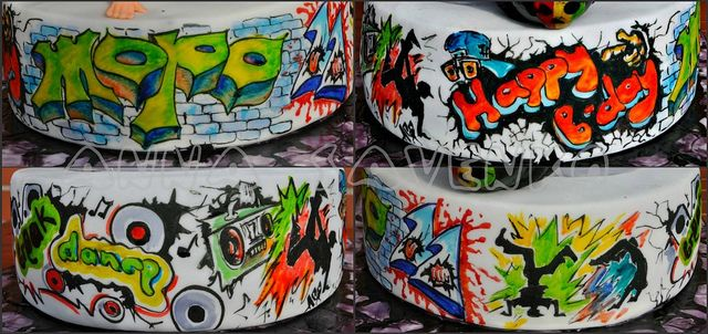 Graffiti on tne Break dance cake by anna savenko (sVeshti4ka), via Flickr
