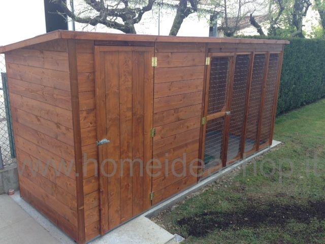 Cuccia per cane 369 x 124 con zona giorno e notte - Home Idea Italia
