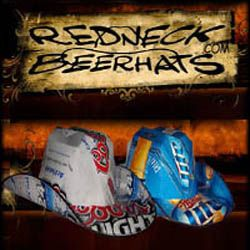 DIY: How to Make a Beerhat by redneckbeerhats.com ~ I like how the top part is made, instead of it being totally flat.  NICE