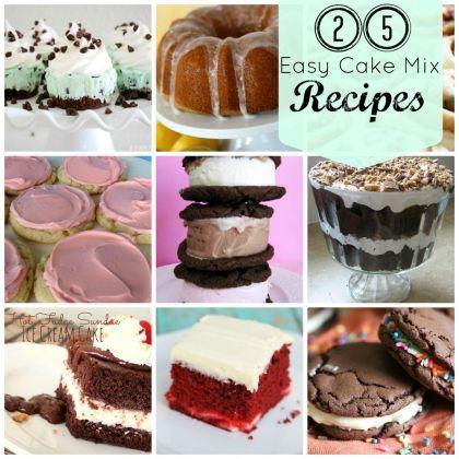 25 Easy Cake Mix Recipes