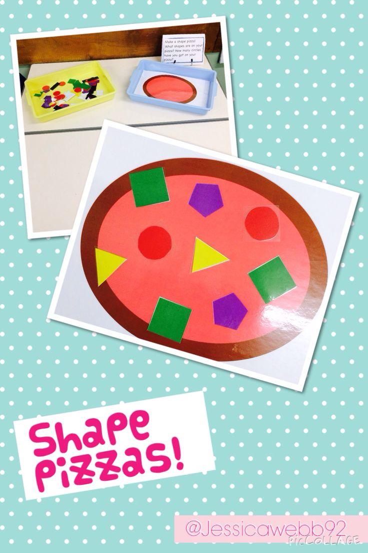 Shape pizzas. EYFS