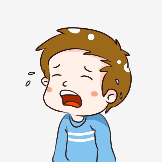 Boy Crying On His First Day Of School Clip Art Anxious Children Boy Crying