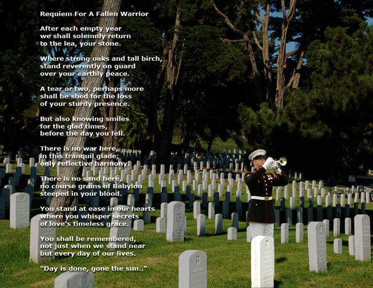 Fallen Soldier Poem