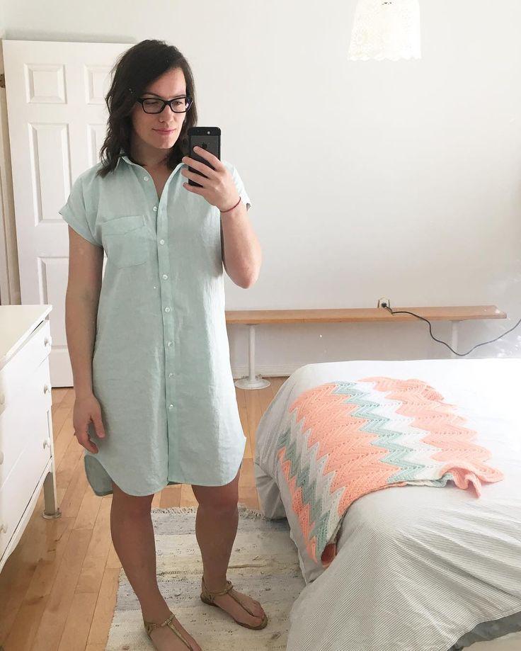 Jacey's Kalle Shirtdress // Closet Case Patterns https://www.instagram.com/p/BUpFi8IltRn/