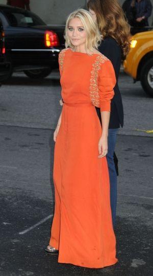 orange w/ sleeves, ashley olsen nyc by josephine