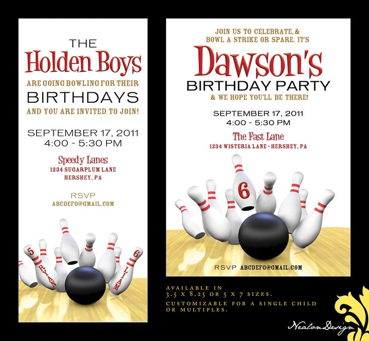 99 best Bowling Party images on Pinterest Birthday party ideas - bowling invitation