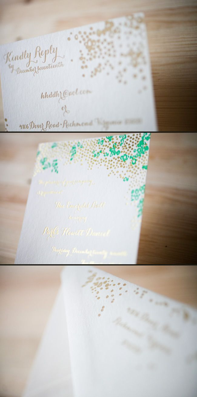 A trendy combination of letterpress and foil