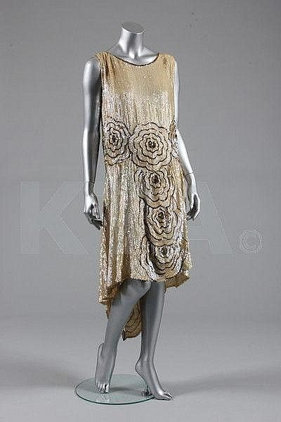 A sequined flapper dress, French, circa 1928, Kerry Taylor Auctions