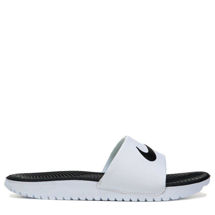 Nike Kids' Kawa Slide Sandal Pre/Grade School Sandals (White/Black)