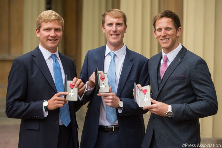 The Royal Family‏Verified account @RoyalFamily  May 5  The Queen held an Investiture at Buckingham Palace with recipients including #Rio2016 gold medallists @matt_langridge8 @gorgnash @clouloudis pic.twitter.com/h5lilLI0ze  Team GB and British Rowing The Royal Family (@RoyalFamily) | Twitter