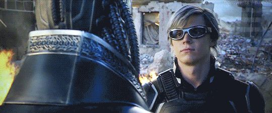 Quicksilver: The only mutant capable of and bold enough to physically punch Apocalypse in the face.