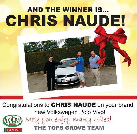 A hearty congratulations to Chris Naude!