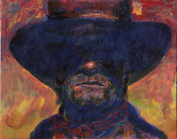 Roland of Gilead: The Dark Tower  Someone painted this to be Roland.  Looks to me like Joe Kidd or The Man With No Name.  That's why I wish Eastwood could have 30 or 40 years back.  Viggo Mortensen would be good, but he'd better lose weight and get some bluer contacts to pull off Roland.