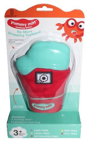 Yummy Mitt Infant Teething Mitten- Glow in the Dark Version! (Multiple Colors)