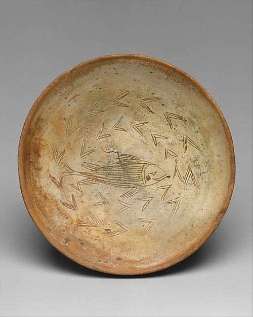 Bowl with Fish, Byzantine, 11th-13th century. I get a little jolt of energy when I look at ancient pottery. #ceramics #pottery