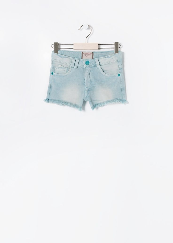 Gekleurde denim shorts