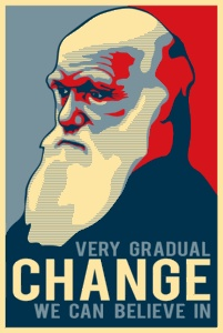 Very gradual change we can believe in - Happy Birthday Charles Darwin!