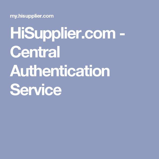 HiSupplier.com - Central Authentication Service