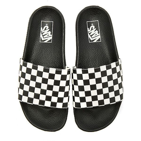 8df9bd3b82cc Vans Slide On ( 30) ❤ liked on Polyvore featuring men s fashion ...