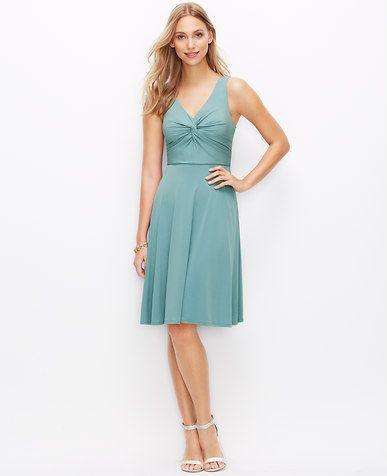 Image of Satin Jersey Twist Dress