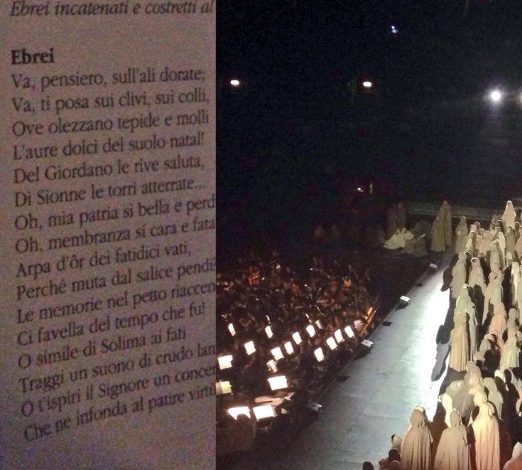 Un minuto di applausi e bis per il #VaPensiero  #GiuseppeVerdi #Nabucco #inarena