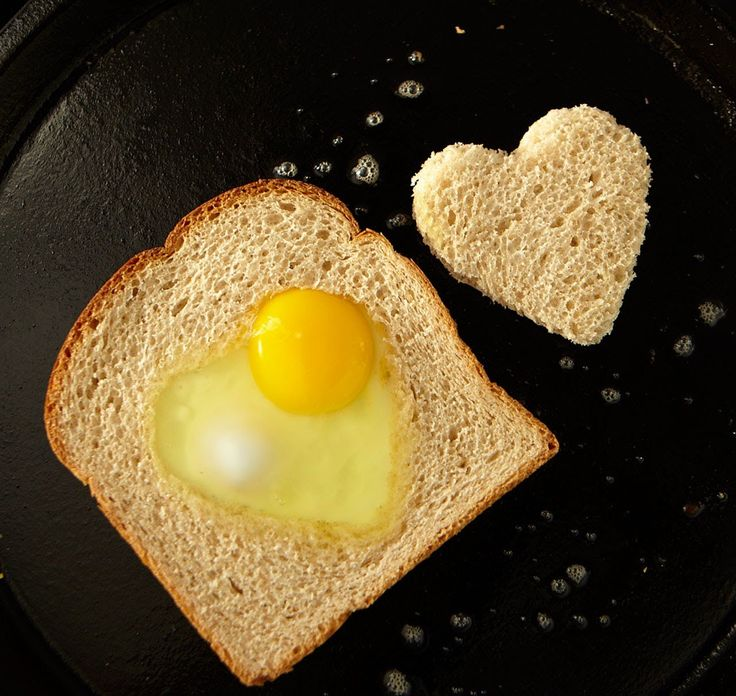 The cutest breakfast ever: egg in a hole