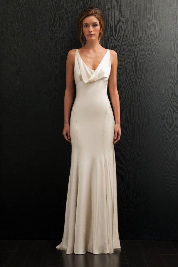 Top 25 best slip wedding dress ideas on pinterest sexy for Long dress for wedding reception