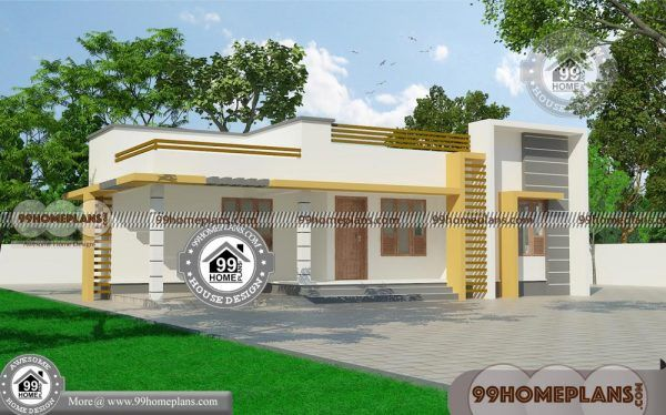 Modern 3 Bedroom House Design With One Story Model Flat Roof Plans Single Floor House Design House Plans Box House Design